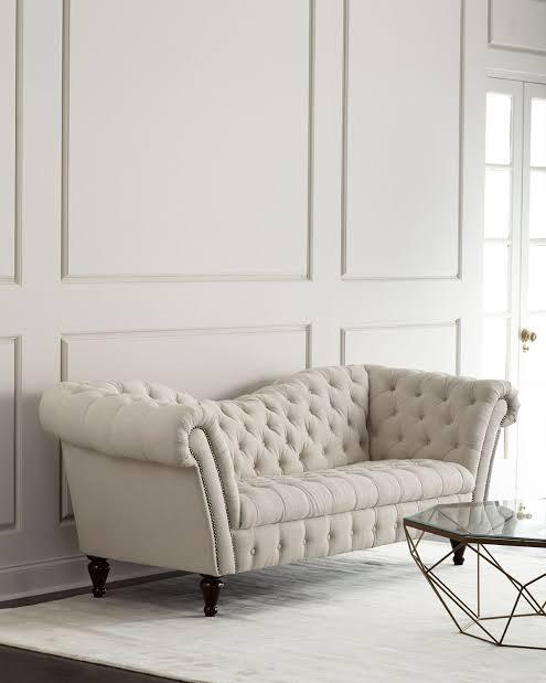 Recamier sofá branco