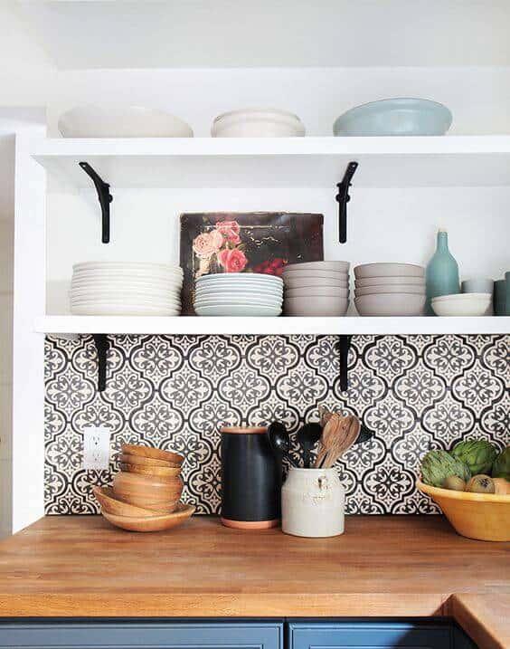 Revestimento de papel de parede estilo cerâmica36