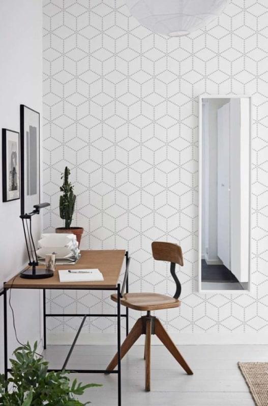 Revestimento de papel de parede geométrico34