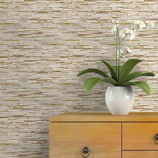 Revestimento de papel de parede imitando ´pedras31