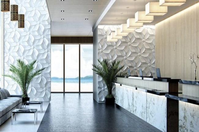 Revestimento de parede 3D na cozinha5