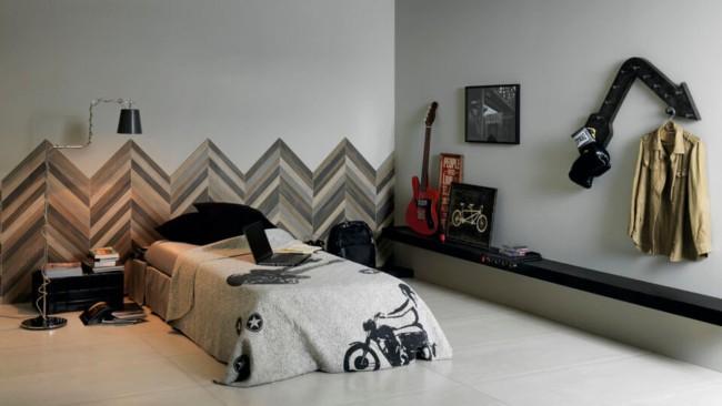 Revestimento de parede para quarto com cerâmica45