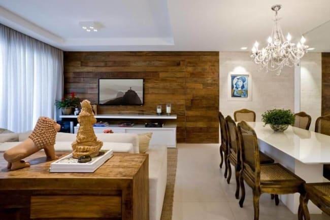 Revestimento de parede para sala com madeira44