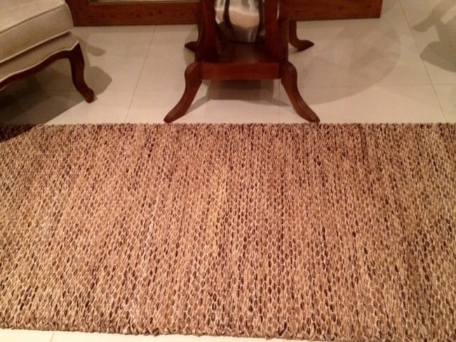 Tapete de tecido artesanal