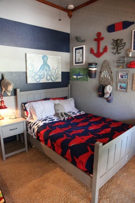 Tema navy para quarto de menino
