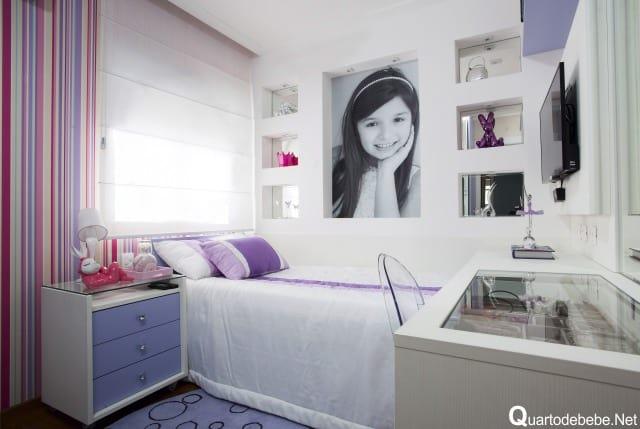 Você pode por uma foto personalizada da menina no quarto