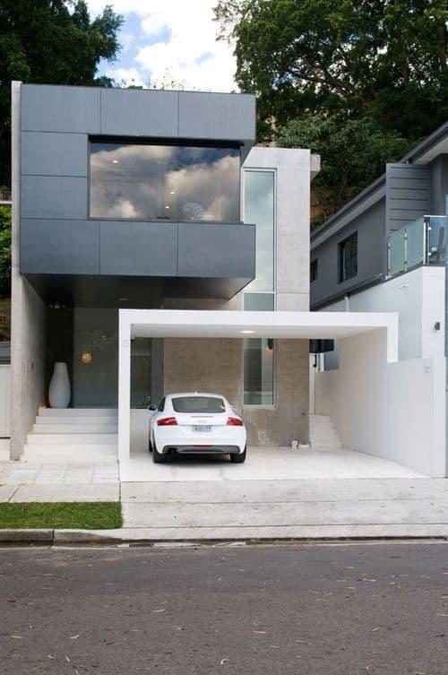 casa com muro de ceramica
