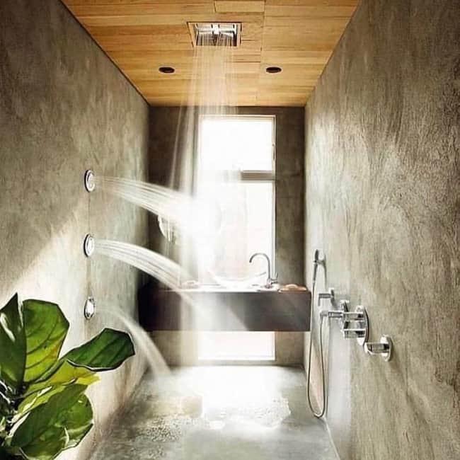 chuveiro de teto planejado