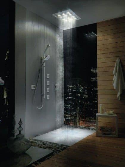 chuveiro moderno com led
