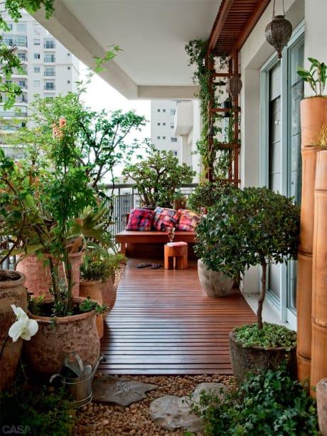 clusia em varanda decorada