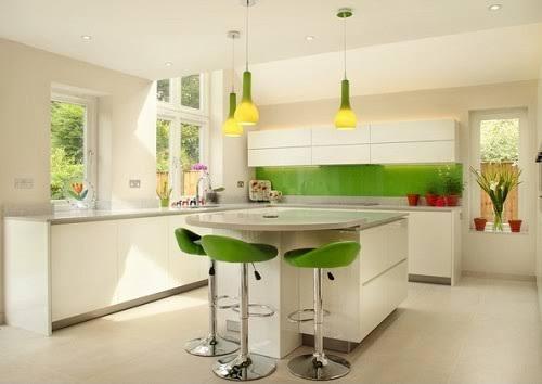 cozinha com Greenery