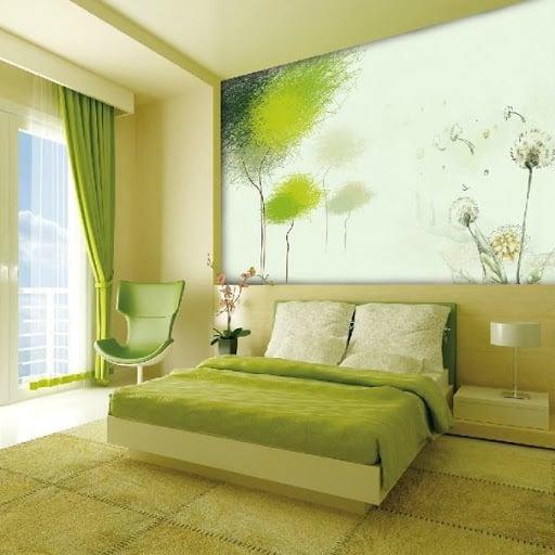 decoração greenery no quarto