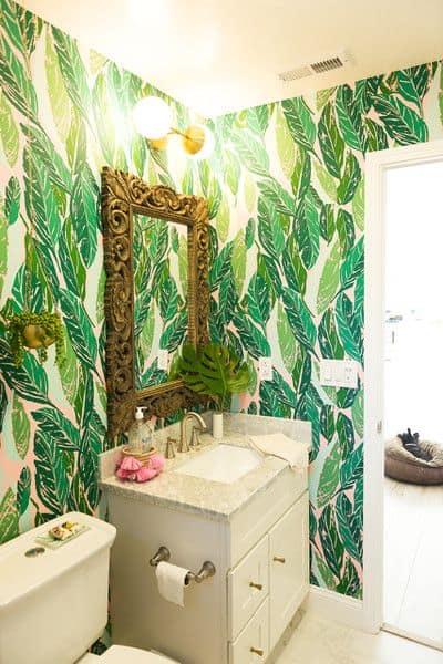 greenery no banheiro decorado