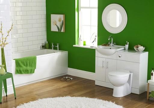greenery no banheiro