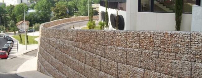 muro gabião ideias