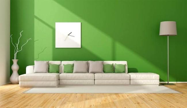 sala decorada com Greenery