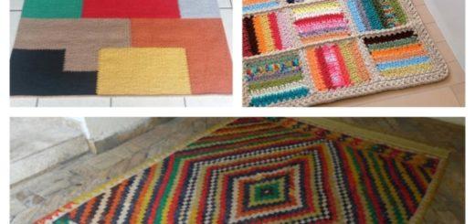 tapete artesanal colorido