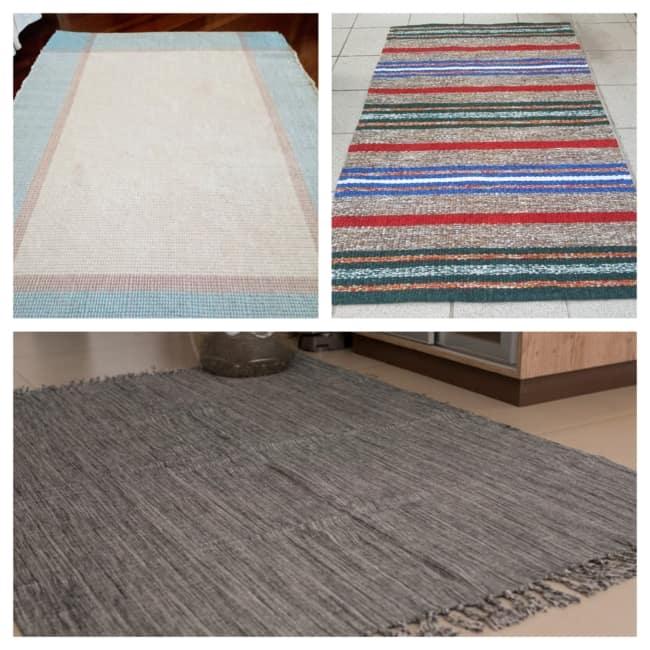 tapete artesanal de tecido 1