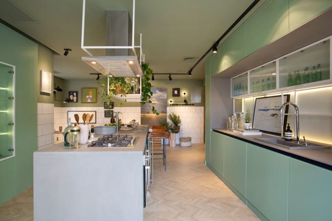verde greenery na cozinha