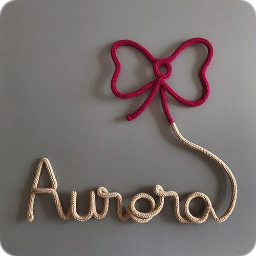 nome infantil em tricotin