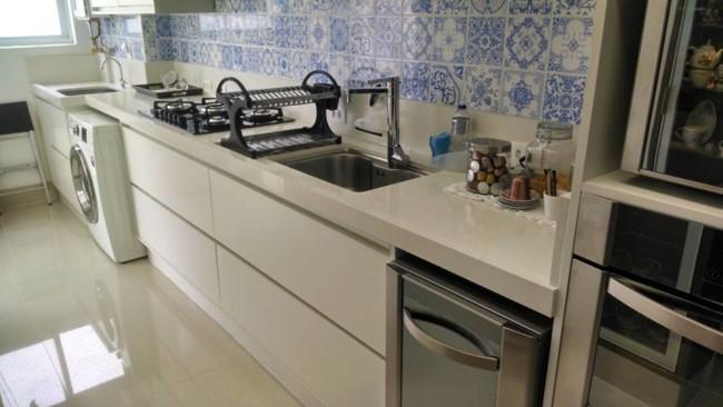 bancada de quartzo stone na cozinha