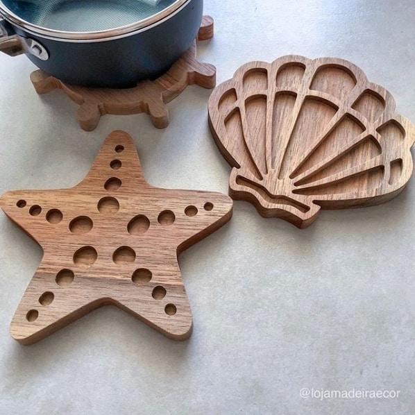 descanso de panela em madeira