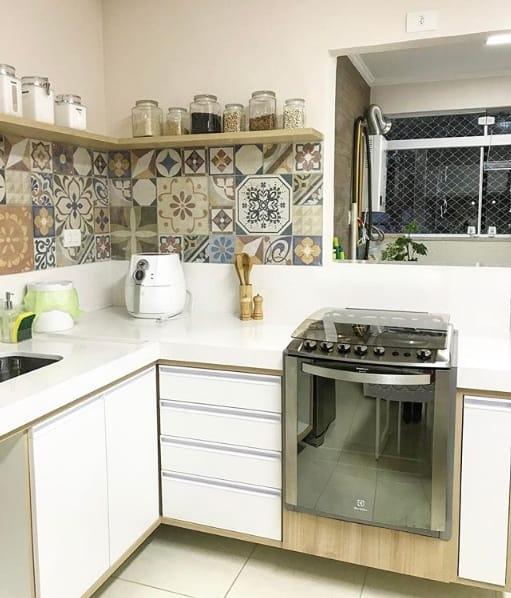 bancada de cozinha em silestone branco maple