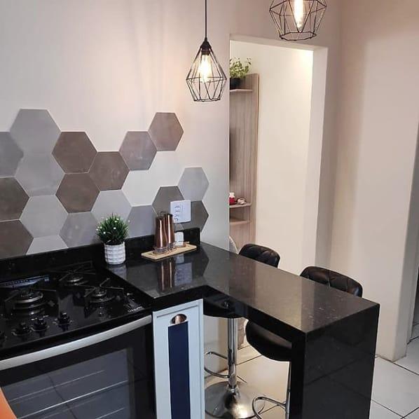 bancada de cozinha em granito verde ubatuba