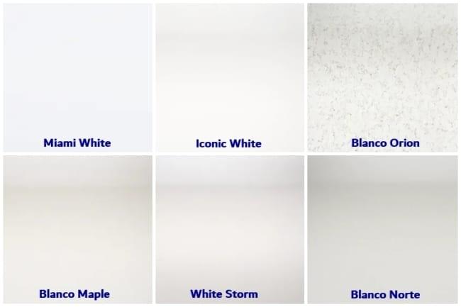tipos de silestone branco