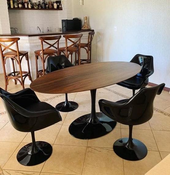 cadeiras com braço para mesa tulipa
