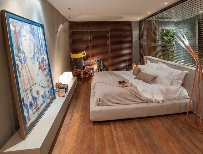 piso que imita madeira para quarto