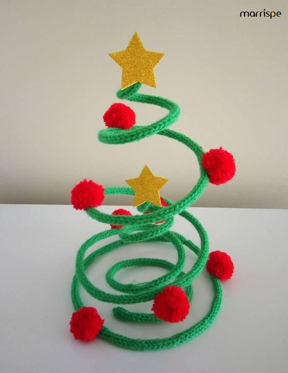 decoração de natal em tricotin