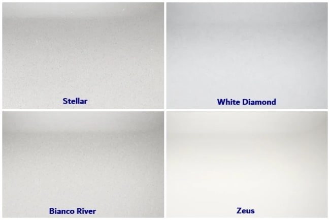 cores e tipos de silestone branco