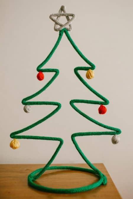 árvore de natal de tricotin