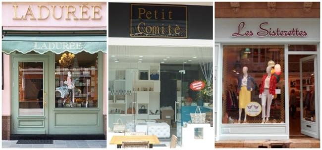 lojas com nome em francês