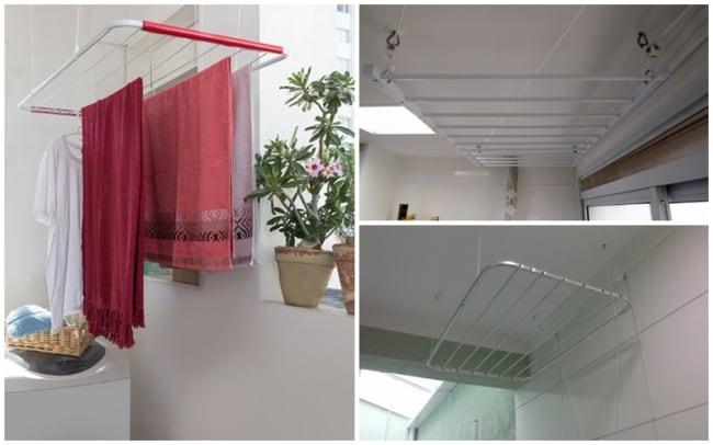 dicas e cuidados para instalação de varal de teto