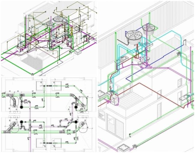 modelos de plantas e projetos hidráulicos