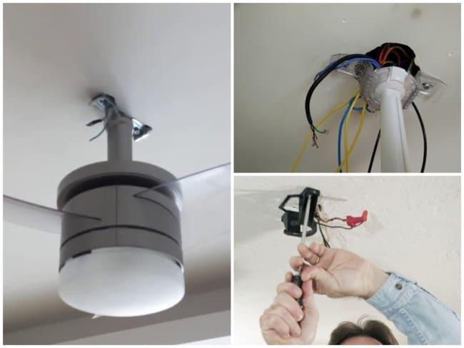 suporte para instalação de ventilador de teto