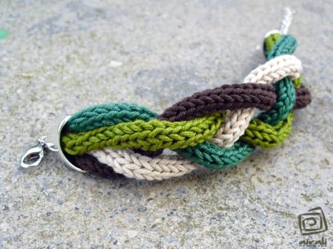 pulseira feminina de tricotin