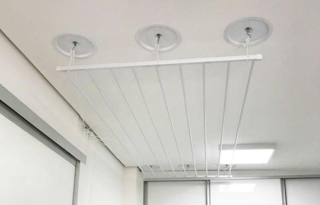 como instalar varal em teto de gesso