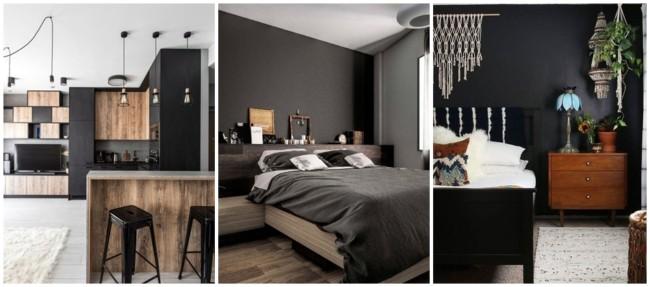 como usar e combinar cor preta na decoração