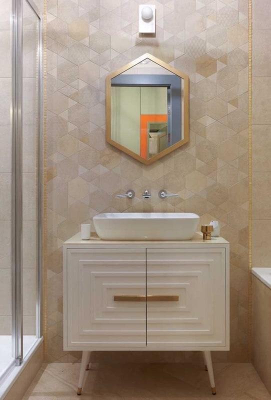 Banheiro com Cor palha