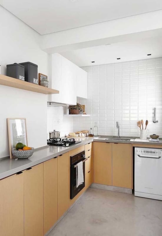 Decoração com Cor palha na cozinha