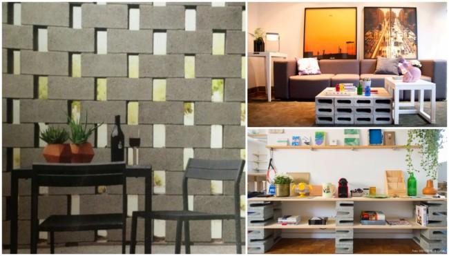 Decoração criativa com blocos de concreto 1