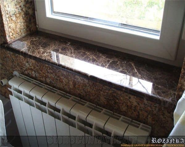 Estilo de soleiras de granito na janela 1