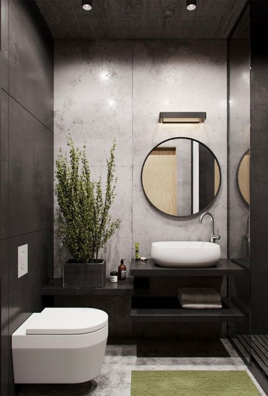 Granito São Gabriel em banheiro pequeno