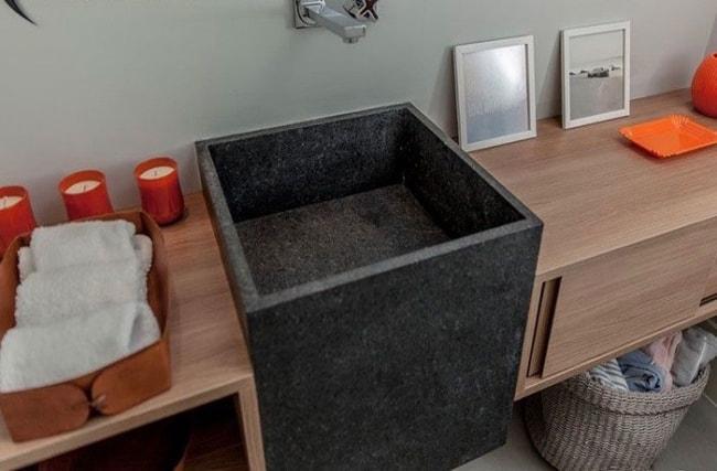 Granito São Gabriel em banheiros e lavabos
