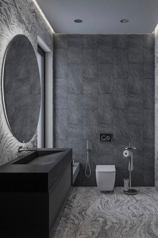 Granito São Gabriel em banheiros luxuosos