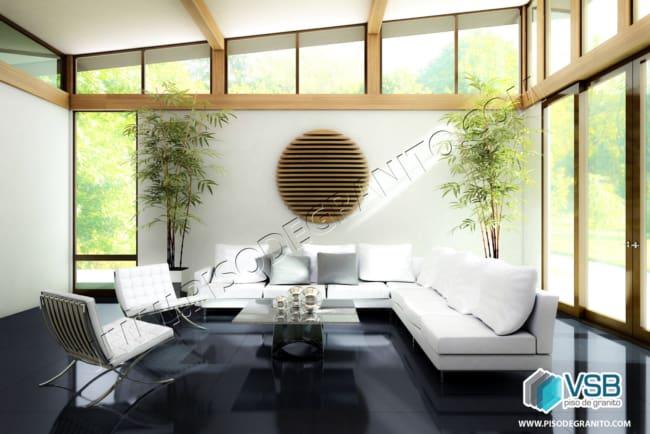 Granito São Gabriel em sala de estar