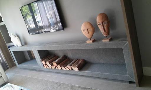 Granito São Gabriel na lareira da sala